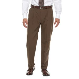 Big & Tall Croft & Barrow® True Comfort 4-Way Stretch Classic-Fit Pleated Dress Pants